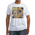 Teachers with Trap Doors Fitted T-Shirt