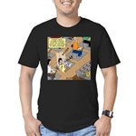 Teachers with Trap Doo Men's Fitted T-Shirt (dark)