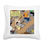 Teachers with Trap Doors Square Canvas Pillow