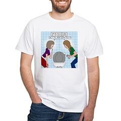 Toilet Seat Lid Dilemma White T-Shirt