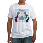 Toilet Seat Lid Dilemma Fitted T-Shirt