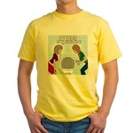 Toilet Seat Lid Dilemma Yellow T-Shirt