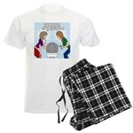Toilet Seat Lid Dilemma Men's Light Pajamas