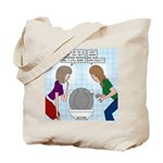 Toilet Seat Lid Dilemma Tote Bag