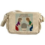 Toilet Seat Lid Dilemma Messenger Bag