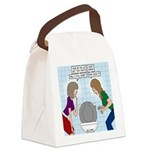 Toilet Seat Lid Dilemma Canvas Lunch Bag
