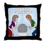 Toilet Seat Lid Dilemma Throw Pillow