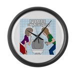 Toilet Seat Lid Dilemma Large Wall Clock