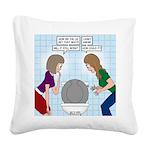 Toilet Seat Lid Dilemma Square Canvas Pillow