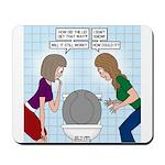 Toilet Seat Lid Dilemma Mousepad