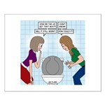 Toilet Seat Lid Dilemma Small Poster