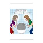Toilet Seat Lid Dilemma Mini Poster Print