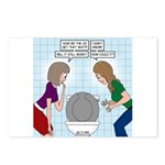 Toilet Seat Lid Dilemma Postcards (Package of 8)