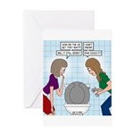 Toilet Seat Lid Dilemma Greeting Card