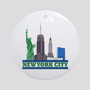 New York City Skyline Ornament (Round)