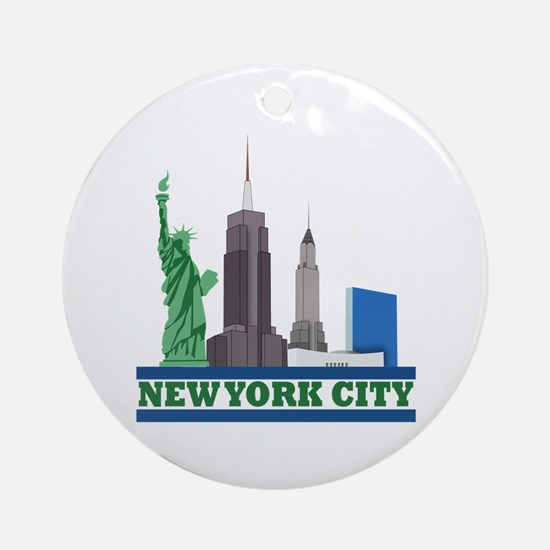 New York City Skyline Ornament (Round)