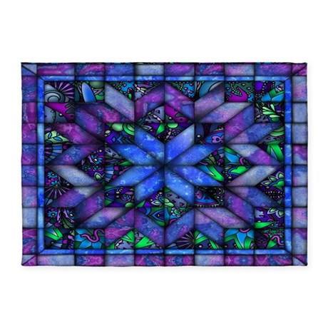 Blue Quilt 5'x7'Area Rug