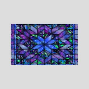 Blue Quilt 3'x5' Area Rug