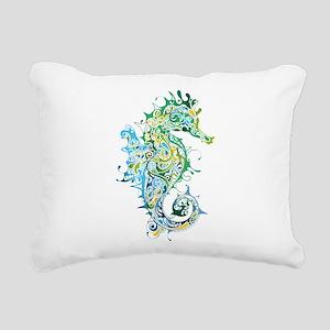 Paisley Seahorse Rectangular Canvas Pillow