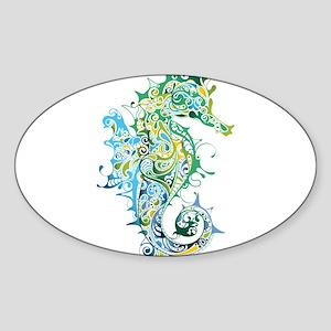 Paisley Seahorse Sticker