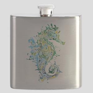 Paisley Seahorse Flask