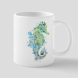 Paisley Seahorse Mugs