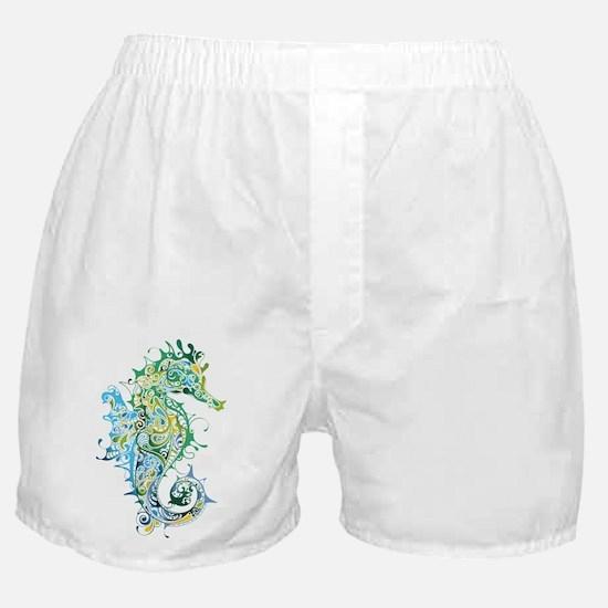 Paisley Seahorse Boxer Shorts