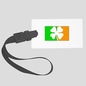 Irish Shamrock Flag Luggage Tag
