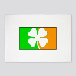 Irish Shamrock Flag 5'x7'Area Rug