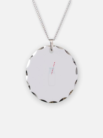 Glass Milk Bottle Necklace
