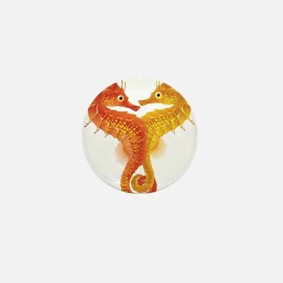 Seahorse Dance Mini Button