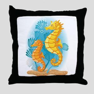 Seahorse Duo Throw Pillow