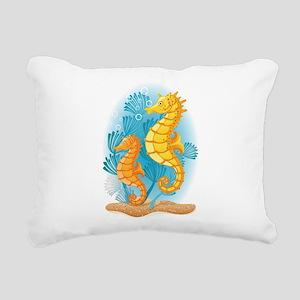 Seahorse Duo Rectangular Canvas Pillow