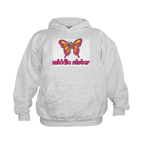 Middle Sister Butterfly Kids Hoodie