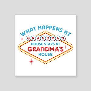 "Las Vegas Stays At Grandmas Square Sticker 3"""