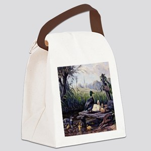 Ducks on the Pond Canvas Lunch Bag