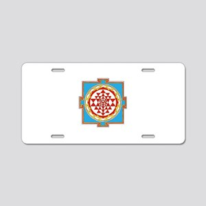 Shree Yantra Aluminum License Plate