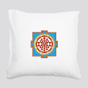 Shree Yantra Square Canvas Pillow