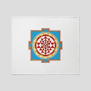 Shree Yantra Throw Blanket