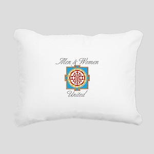 Men&Women United Rectangular Canvas Pillow