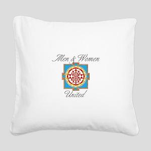 Men&Women United Square Canvas Pillow
