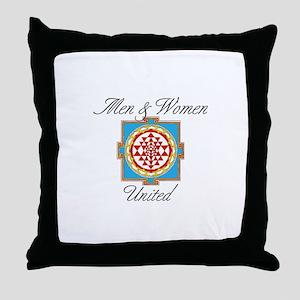 Men&Women United Throw Pillow