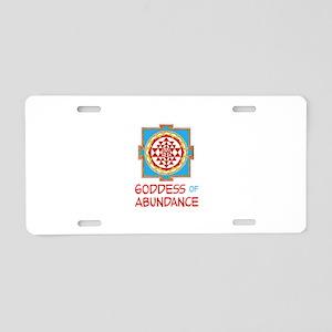 Goddess Of ABUNDANCE Aluminum License Plate