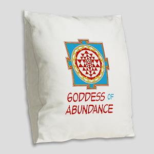 Goddess Of ABUNDANCE Burlap Throw Pillow