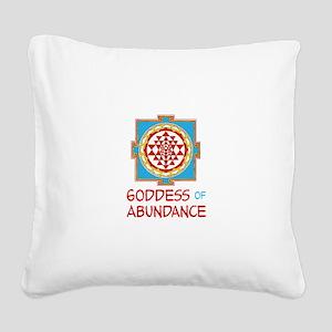 Goddess Of ABUNDANCE Square Canvas Pillow