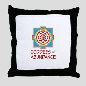 Goddess Of ABUNDANCE Throw Pillow