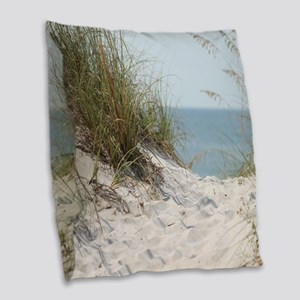 beach-184421 Burlap Throw Pillow