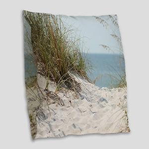 beach-184421 Burlap Throw Pillow