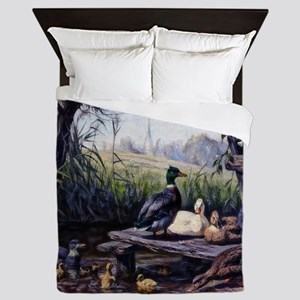 Ducks on the Pond Queen Duvet
