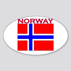 Norway Flag Oval Sticker